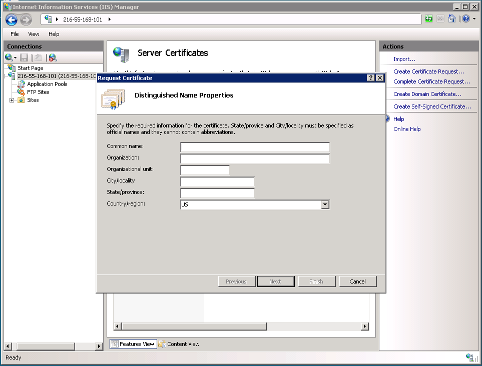 How To Install An Ssl Certificate Installation On Microsoft Iis 7x