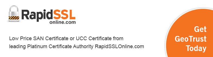 san certificate from rapidsslonline