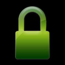 green padlock