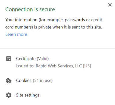 chrome connections is secure