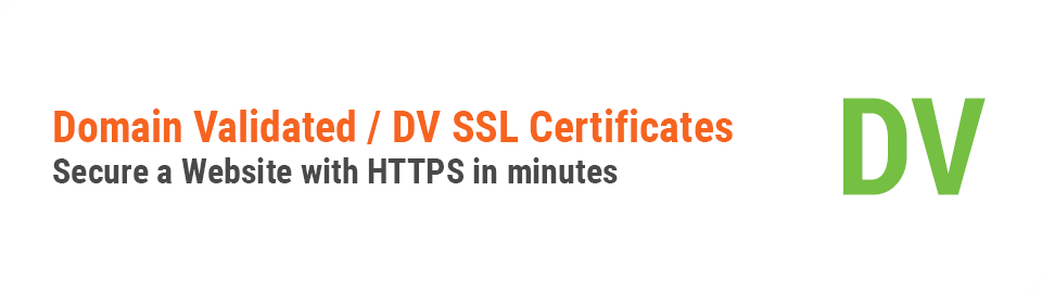 Domain Validated SSL Type Header Image