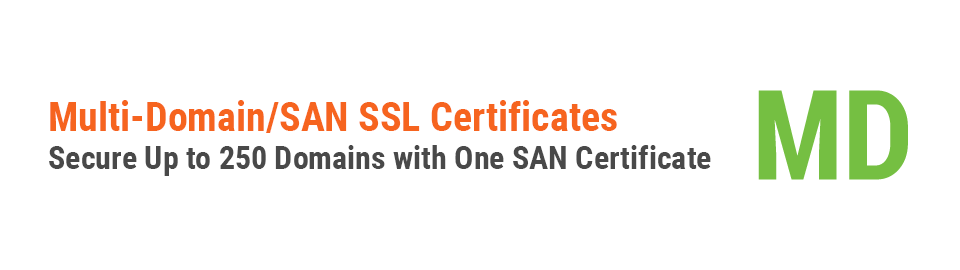 SAN SSL or UCC SSL or Multi Domain SSL to Secure 250 Websites